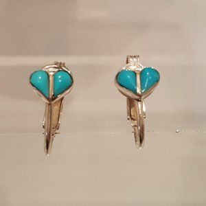 Sterling & Turquoise clip on earring
